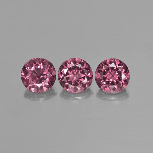Pinkish Rose Rhodolite Garnet Gem - 0.9ct Round Facet (ID: 505911)