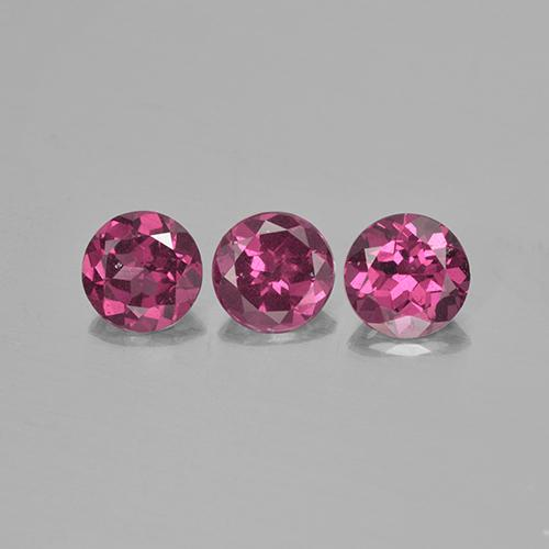 Pinkish Purple Rhodolite Garnet Gem - 0.6ct Round Facet (ID: 505912)