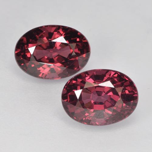 Raspberry Red Rhodolite Garnet Gem - 1.4ct Oval Facet (ID: 526029)