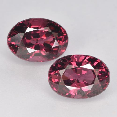 Medium Red Rhodolite Garnet Gem - 1.2ct Oval Facet (ID: 526058)