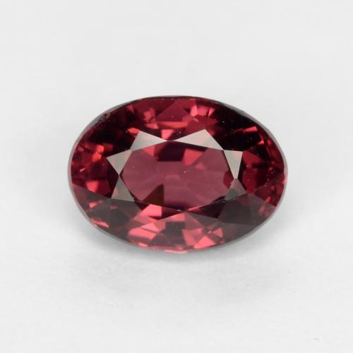 Wine Red Granate Rodolita Gema - 1.3ct Forma ovalada (ID: 540918)