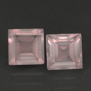 1.24 ct total Natural Light Pink Rose Quartz