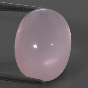 Medium Rose Pink Quarzo rosa Gem - 18.3ct Ovale cabochon (ID: 328838)