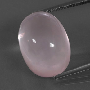 Pink Rose Quartz Gem - 19.6ct Oval Cabochon (ID: 332925)