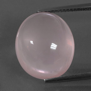 Pink Rose Quartz Gem - 12.8ct Oval Cabochon (ID: 332952)
