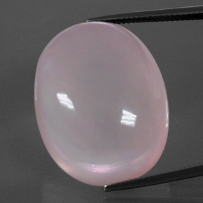 Rose Quartz Rose Gem - 57.2ct Ovale Cabochon (ID: 344362)