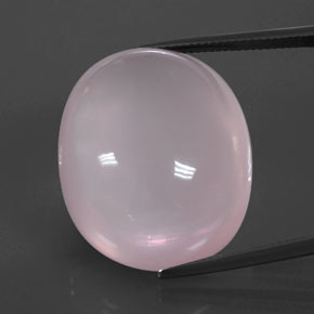 Pink Rose Quartz Gem - 57.6ct Oval Cabochon (ID: 344390)