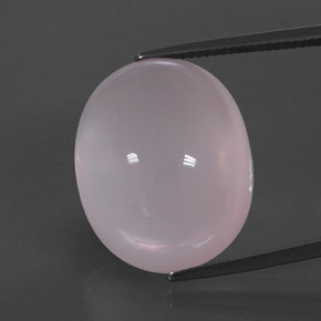 Pink Rose Quartz Gem - 38.7ct Oval Cabochon (ID: 344391)