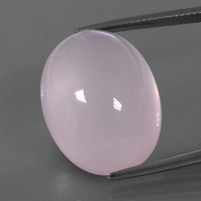 Pink Rose Quartz Gem - 29.6ct Oval Cabochon (ID: 345293)