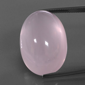 Pink Rose Quartz Gem - 36.4ct Oval Cabochon (ID: 345324)