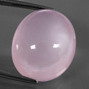 Pink Rose Quartz Gem - 24.7ct Oval Cabochon (ID: 345633)
