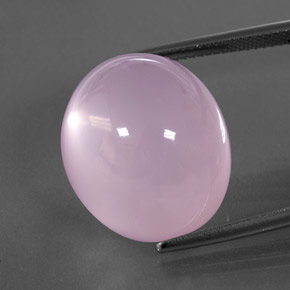 Pink Rose Quartz Gem - 29.6ct Oval Cabochon (ID: 345647)