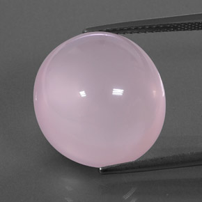 Light Pink Rose Quartz Gem - 18.2ct Oval Cabochon (ID: 345947)