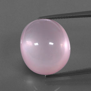 Pink Rose Quartz Gem - 21.3ct Oval Cabochon (ID: 348937)