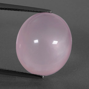 Pink Rose Quartz Gem - 11.8ct Oval Cabochon (ID: 349297)