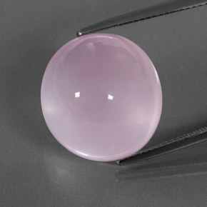 Bubblegum Pink Rose Quartz Gem - 20.1ct Oval Cabochon (ID: 360471)