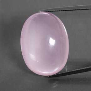 Light Cherry Pink Rose Quartz Gem - 44.3ct Oval Cabochon (ID: 360565)