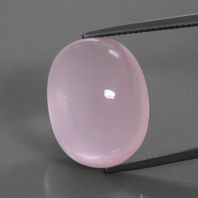 Pink Rose Quartz Gem - 25ct Oval Cabochon (ID: 362027)