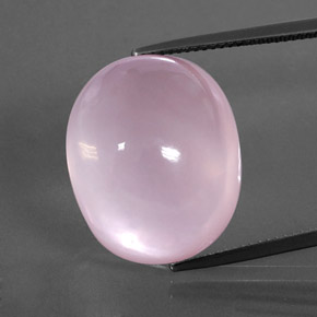 Pink Rose Quartz Gem - 32.6ct Oval Cabochon (ID: 364072)