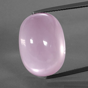 Pink Rose Quartz Gem - 30ct Oval Cabochon (ID: 364079)