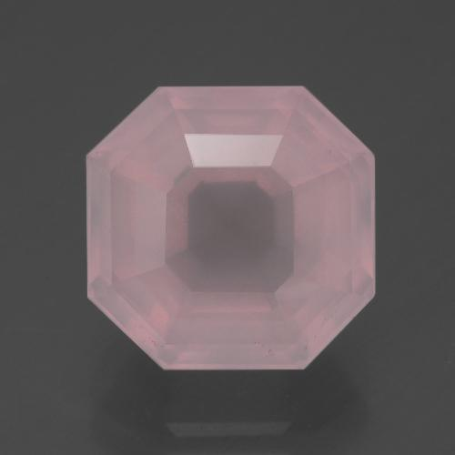 Medium Rose Pink Quarzo rosa Gem - 6.8ct Taglio Asscher (ID: 392341)