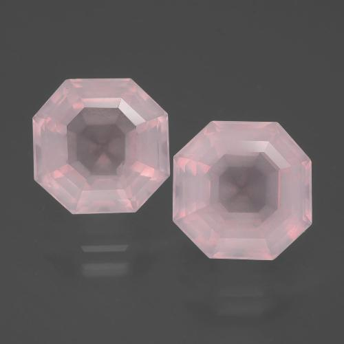 4.6ct Asscher Cut Pink Rose Quartz Gem (ID: 393183)