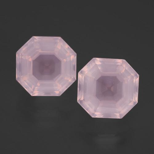 Light Pink Rose Quartz Gem - 4.5ct Asscher Cut (ID: 393208)