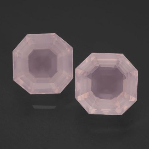 Pink Rose Quartz Gem - 4.9ct Asscher Cut (ID: 393214)