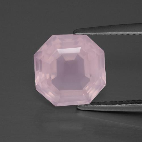 Bubblegum Pink Rose Quartz Gem - 4ct Asscher Cut (ID: 393279)