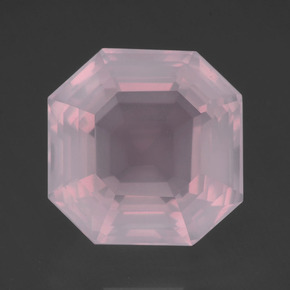 Light Pink Rose Quartz Gem - 14.4ct Asscher Cut (ID: 393318)