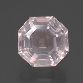 Very Light Pink Cuarzo Rosa Gema - 4.4ct Corte Asscher (ID: 393376)