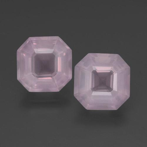 Pink Rose Quartz Gem - 3ct Asscher Cut (ID: 394326)