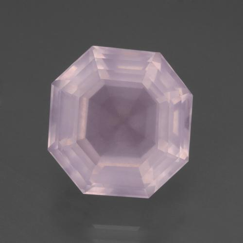 Light Pink Rose Quartz Gem - 9.1ct Asscher Cut (ID: 394377)