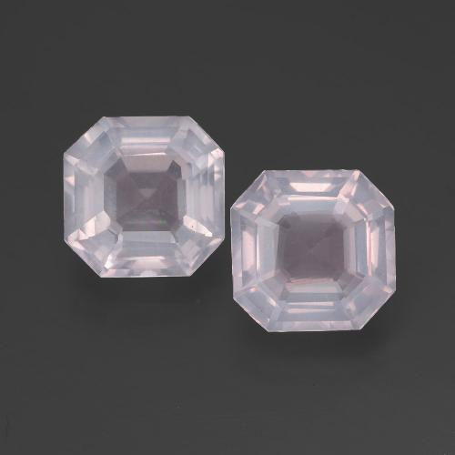Pink Rose Quartz Gem - 2.4ct Asscher Cut (ID: 394605)