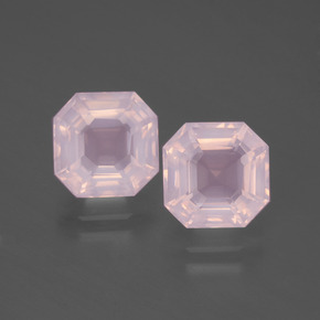 Pink Rose Quartz Gem - 2.7ct Asscher Cut (ID: 394729)