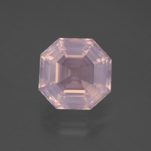 Light Pink Rose Quartz Gem - 5.2ct Asscher Cut (ID: 394780)