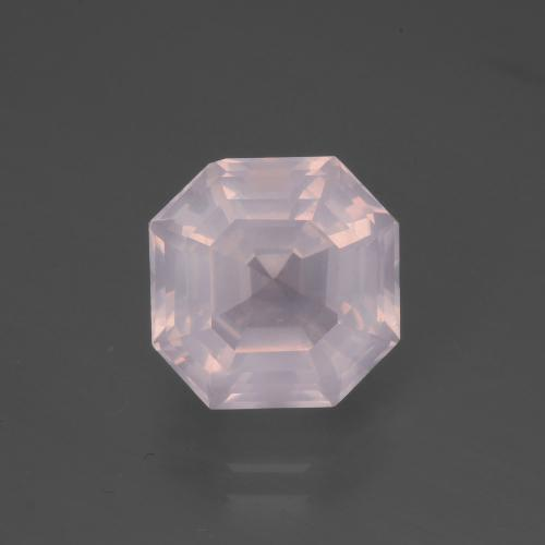 Very Light Pink Cuarzo Rosa Gema - 4.9ct Corte Asscher (ID: 394927)