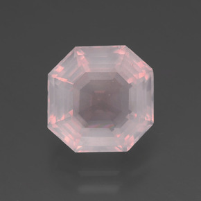 Very Light Pink Cuarzo Rosa Gema - 3.3ct Corte Asscher (ID: 395023)