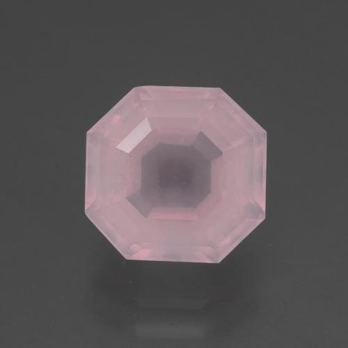 3.3ct Asscher Cut Pink Rose Quartz Gem (ID: 395029)