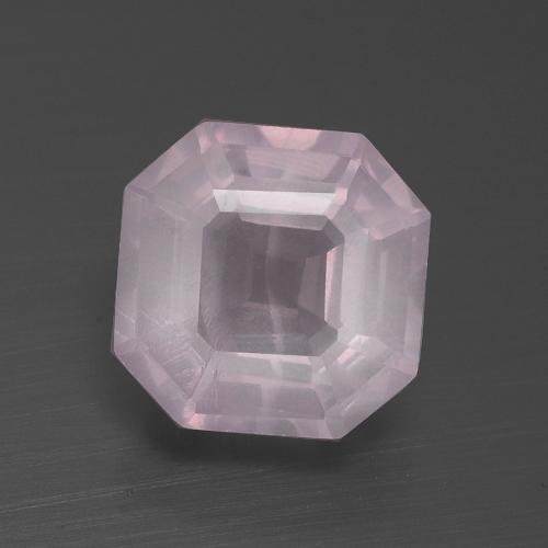 Very Light Rose Pink Cuarzo Rosa Gema - 3.3ct Corte Asscher (ID: 395215)