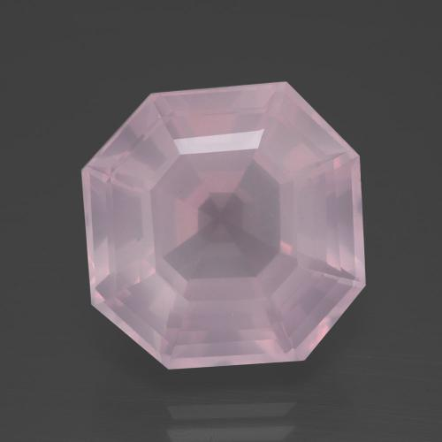 Bubblegum Pink Rose Quartz Gem - 16.1ct Asscher Cut (ID: 395325)