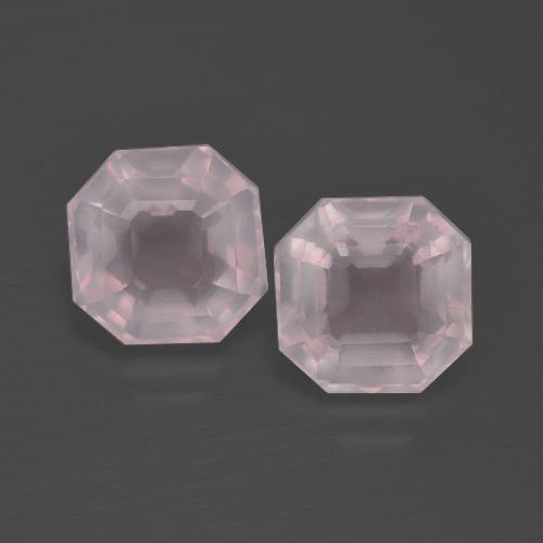 Pink Rose Quartz Gem - 2.5ct Asscher Cut (ID: 400669)