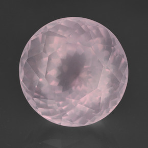 Pink Rose Quartz Gem - 13.3ct Round Petal Cut (ID: 414286)