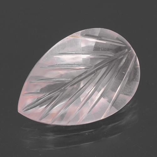 Light Pink Rose Quartz Gem - 2.3ct Fantasy Carved Leaf (ID: 501148)