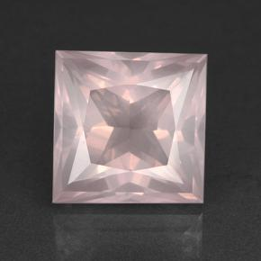 Light Pink Rose Quartz Gem - 9.3ct Princess-Cut (ID: 504623)