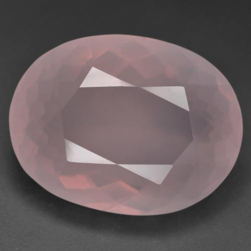 Vivid Pink Rose Quartz Gem - 41.4ct Oval Facet (ID: 528677)