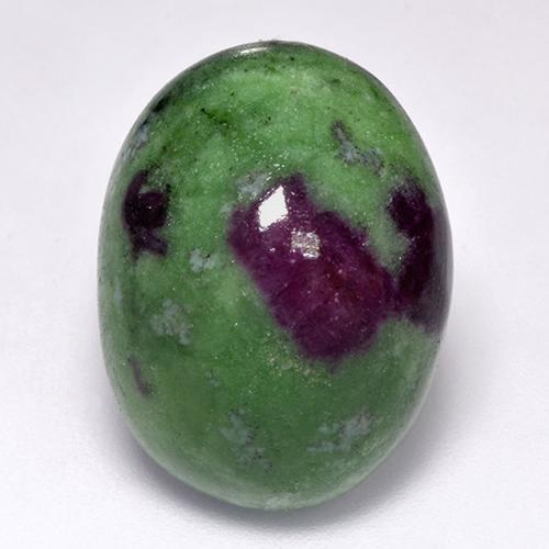 Multicolor Ruby-Zoisite Gem - 23.6ct Oval Cabochon (ID: 196837)