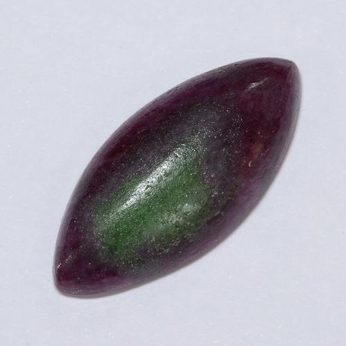 Multicolor Ruby-Zoisite Gem - 11ct Marquise Cabochon (ID: 291474)