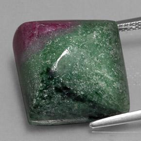 Multicolor Ruby-Zoisite Gem - 32.1ct Square Sugarloaf Cabochon (ID: 334924)