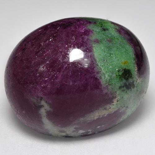 Multicolor Ruby-Zoisite Gem - 97ct Oval Cabochon (ID: 335063)